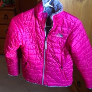 North face reversible girls jacket